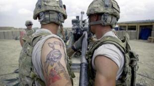Ce genre de tatouage pose problème. ici sur sur un soldat américain en Afghanistan.