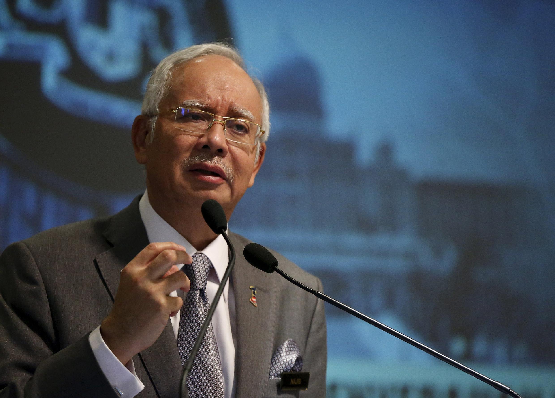马来西亚前总理纳吉布在位时照片