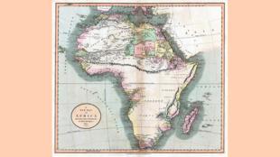 Carte de John Cary de 1805 faisant apparaître les Monts de Kong (par 10° nord).