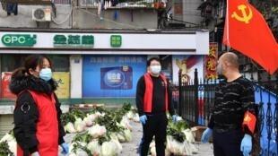 Sinh hoạt vẫn còn rất hạn chế tại Vũ Hán, Hồ Bắc, Trung Quốc. Ảnh ngày 05/03/2020.