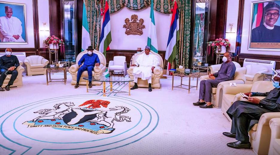 Shugaban Najeriya Muhammadu Buhari da tsohon shugaban kasa Goodluck Jonathan