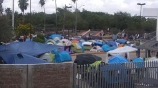 Camp de migrants de Matamoros, frontière entre le Mexique et les États-unis