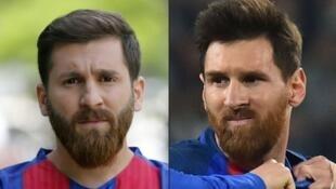 Hoton da aka hada wato Messi da mai kama da shi