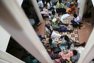 HIV/Aidspatients sit at a counseling facility in Gulu, Uganda