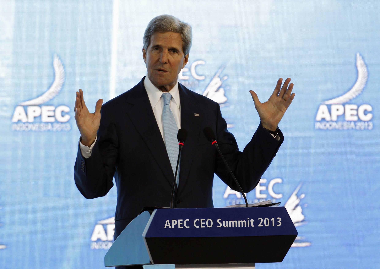 O secretário de Estado americano, John Kerry durante cúpula Asia-Pacífico.