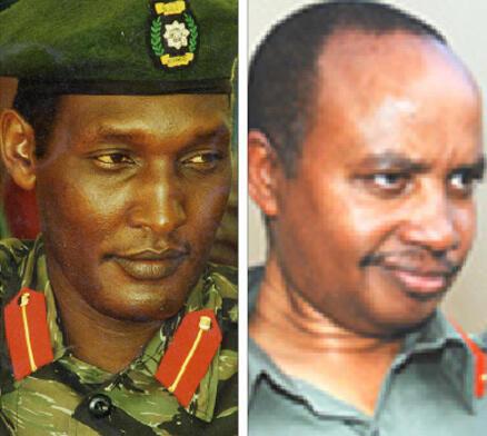 Kayumba Nyamwasa (L) and  Patrick Karegeya (R)