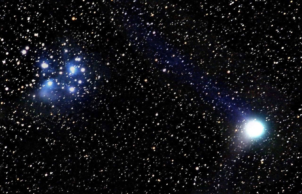 The 96P/Machholz comet, from where the Delta Aquarids meteors originate.