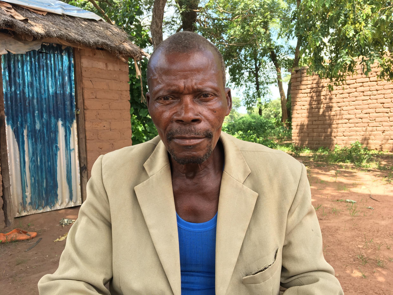 Daniel Deba, CAR school administrator-turned-farmer in Gondje camp
