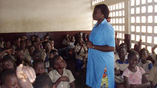 Salle de classe à Brazzaville.