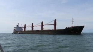 美國司法部宣布沒收朝鮮貨船智誠Wise Honest號訴案中未註明日期圖片2019年5月9日