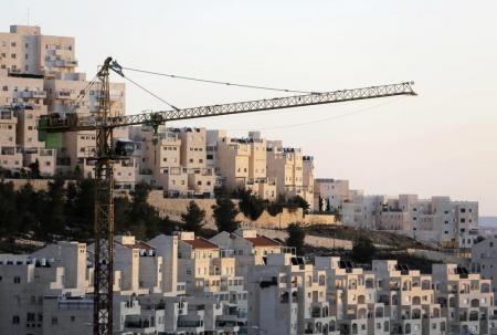 Casas de um assentamento judeu perto de Jerusalém conhecido por israelenses como Har Homa e por palestinos como Jabal Abu Ghneim, em janeiro. 03/01/2014