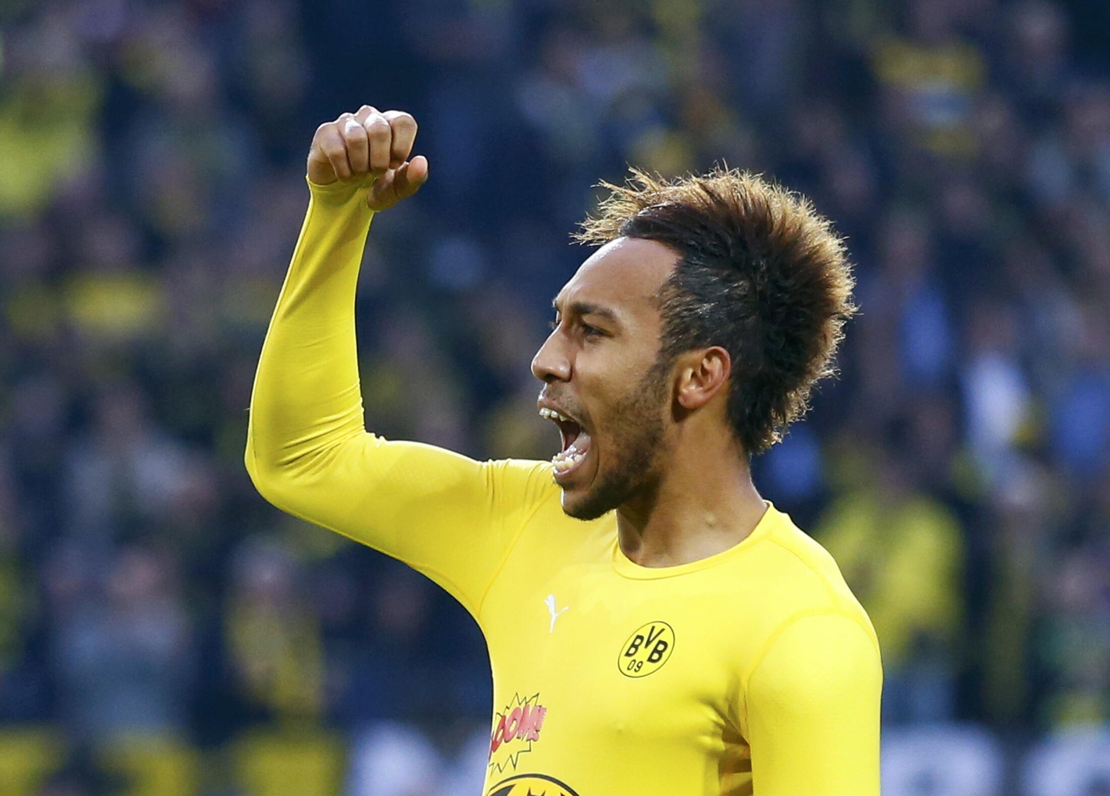Borussia Dortmund striker Pierre-Emerick Aubameyang starred in Gabon's game against Mozambique.