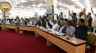 Le Parlement libyen, à Tobrouk, le 28 août 2016 (photo d'illustration).