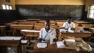 Local de votação preparado para receber os 7 milhões de eleitores inscritos para as eleições presidenciais, hoje dia 4 de Agosto de 2017.
