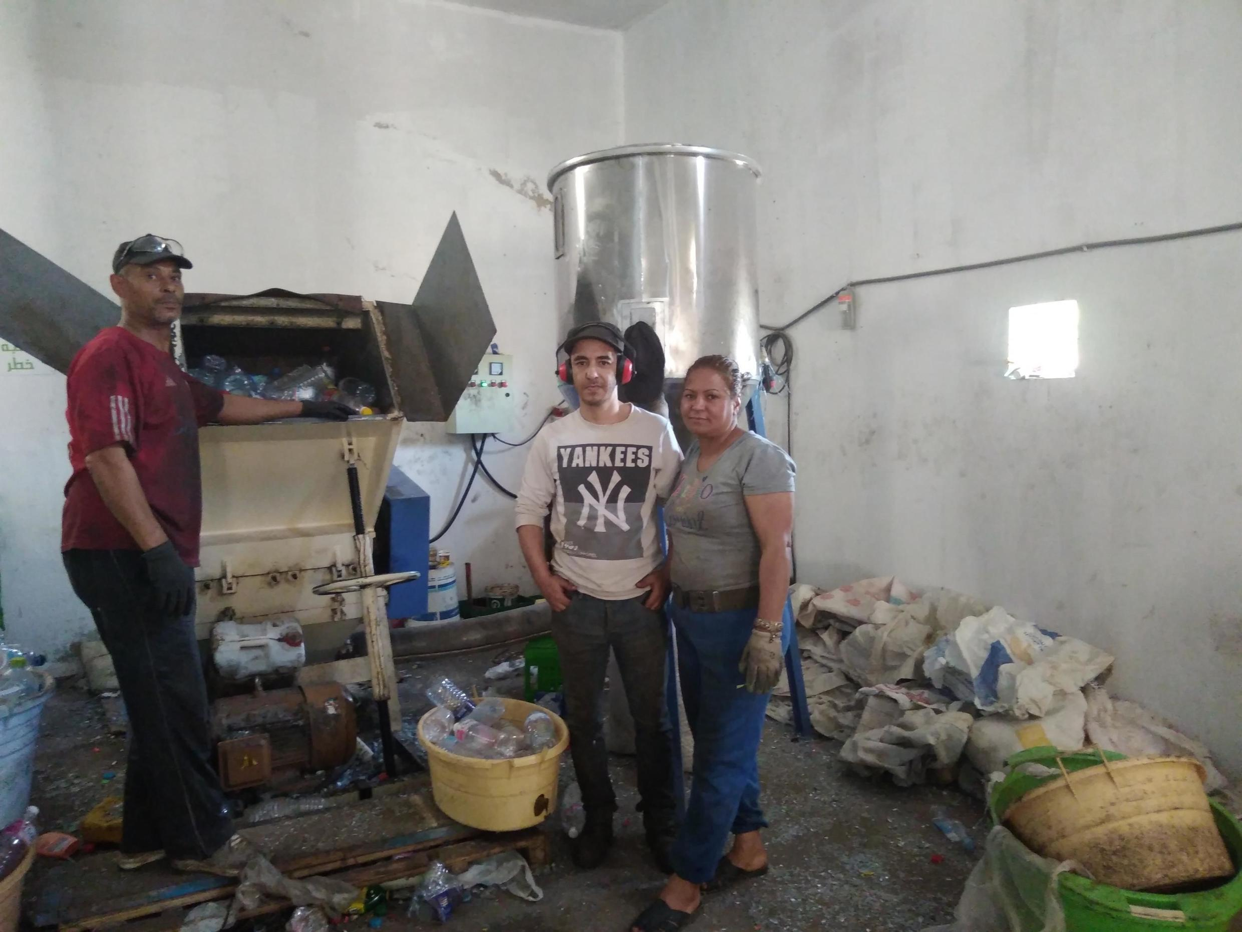Workers from the 'Barbechas' association in Tunis, Tunisia