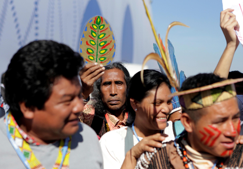 Người dân bản địa biểu tình tại Hội nghị biến đổi khí hậu của Liên Hợp Quốc năm 2016 tại Marrakech, Morocco ngày 11/11/2016.