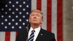 El presidente Trump el pasado 28 de febrero ante el Congreso.