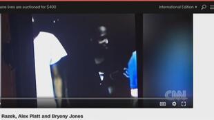 Capture d'écran de la vidéo de CNN sur l'esclavage moderne en Libye (vente des migrants comme esclaves par des trafiquants en Libye).