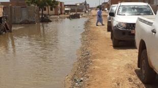Inondations à Rosso, en Mauritanie, en septembre 2020.