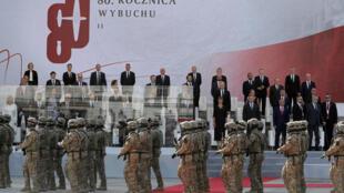 Des soldats polonais ont défilé devant des leaders internationaux lors de la cérémonie de commémoration, marquant le 80e anniversaire de l'invasion de la Pologne ce 1er septembre 2019.