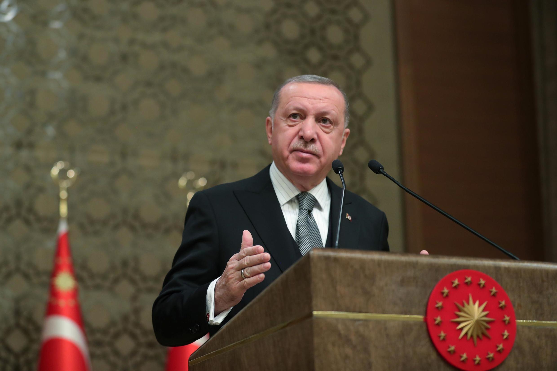 Tổng thống Recep Tayyip Erdogan thông báo đưa quân Thổ Nhĩ Kỳ sang Libya. Ảnh chụ ngày 02/01/2020 tại Ankara.
