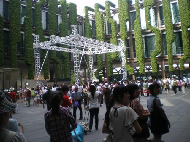 上海世博會法國館Cour interne du Pavillon France à l'Expo unverselle de Shanghai 2010