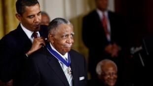 Le révérend Lowery distingué par le président Obama en 2009.