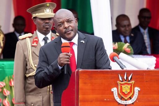 Le président burundais Pierre Nkurunziza photographié en 2019 à Bujumbura.