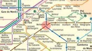 巴黎美丽城下面一站龚古尔站(Goncour)