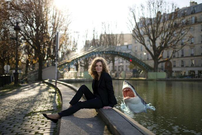 Nathalie Kociusco-Morizet's photo session at a Paris canalside proved easy meat for parodists