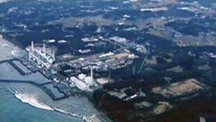 АЭС Фукусима-1, вид с воздуха.