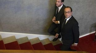 Le président François Hollande et le Premier ministre Manuel Valls.