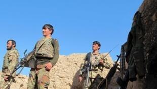 Soldats de l'armée nationale afghane dans la province du Helmand.