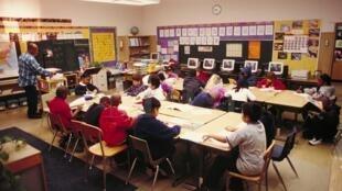 Salle de classe aux Etats-Unis.
