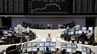 La Bourse de Francfort, le 31 août 2012.