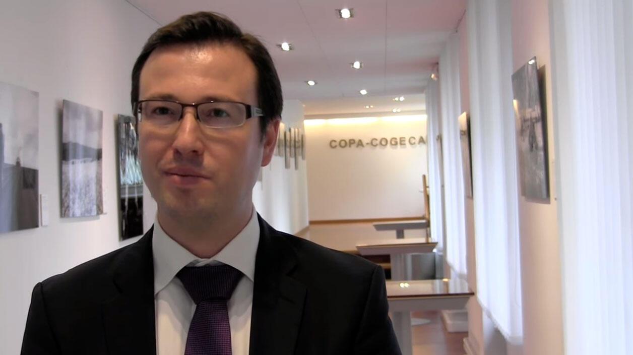 Daniel Azevedo, diretor de Comércio e Agricultura do comitê sindical agrícolas da União Europeia, o Copa-Cogeca