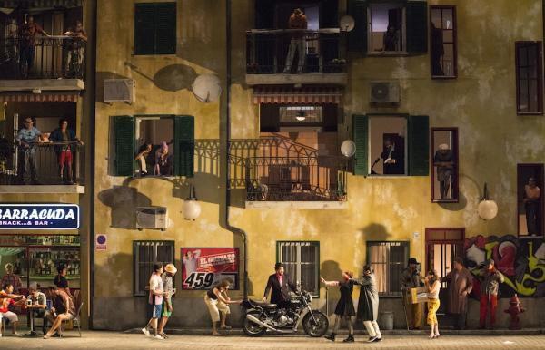 Aspecto de la puesta en escena del Barbero de Sevilla en la Opera nacional de París