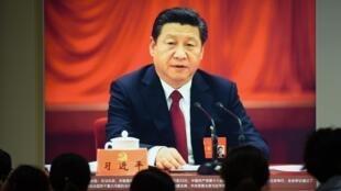 习近平在北京展览中心2017年10月10日