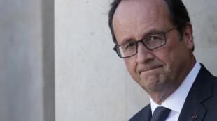 Tổng thống Pháp  François Hollande. Ảnh chụp tại điện Elysée, ngày 09/09/ 2014.