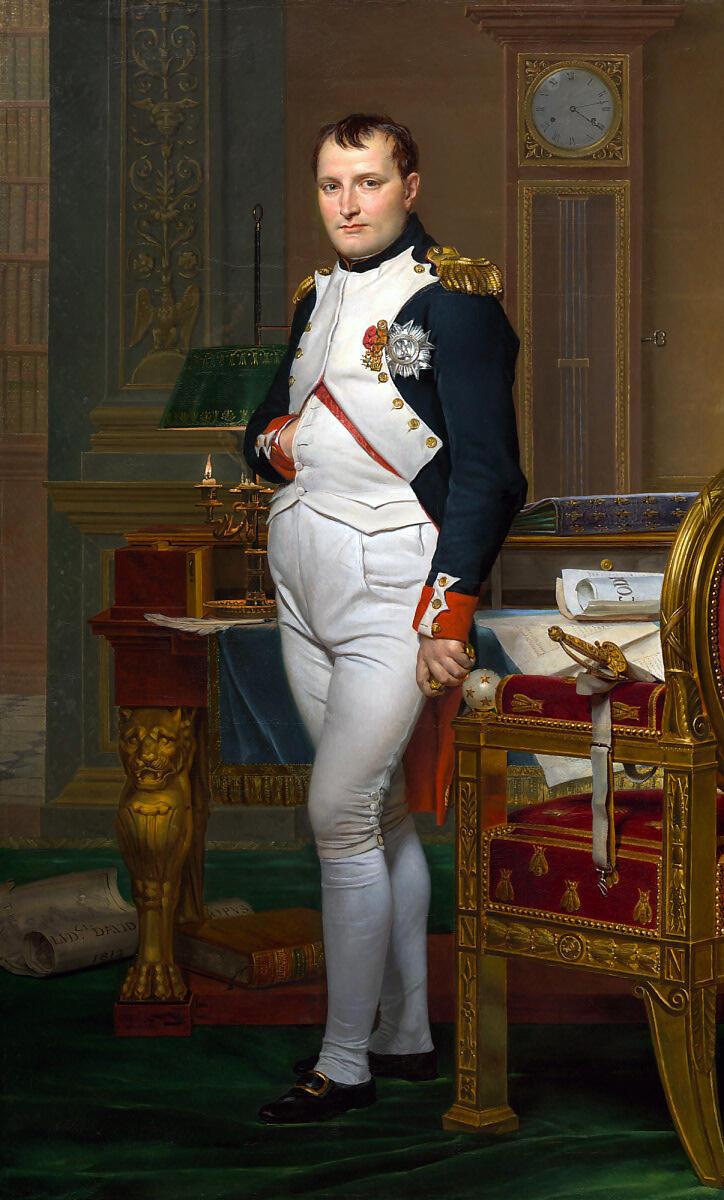 Napoleón por Jacques-Louis David.
