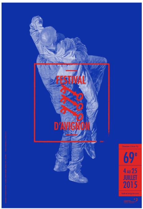 Фрагмент афиши официальной программы Международного театрального фестиваля в Авиньоне, 4 - 25 июля 2015.