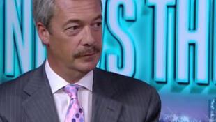 Nigel Farage, líder pró-Brexit do Reino Unido em uma entrevista em 12 de agosto de 2016.