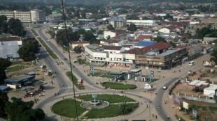 La ville de Kananga, capitale de la province du Kasaï central.