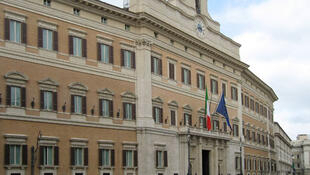 Le Palais Montecitorio, siège de la chambre des députés italiens à Rome.
