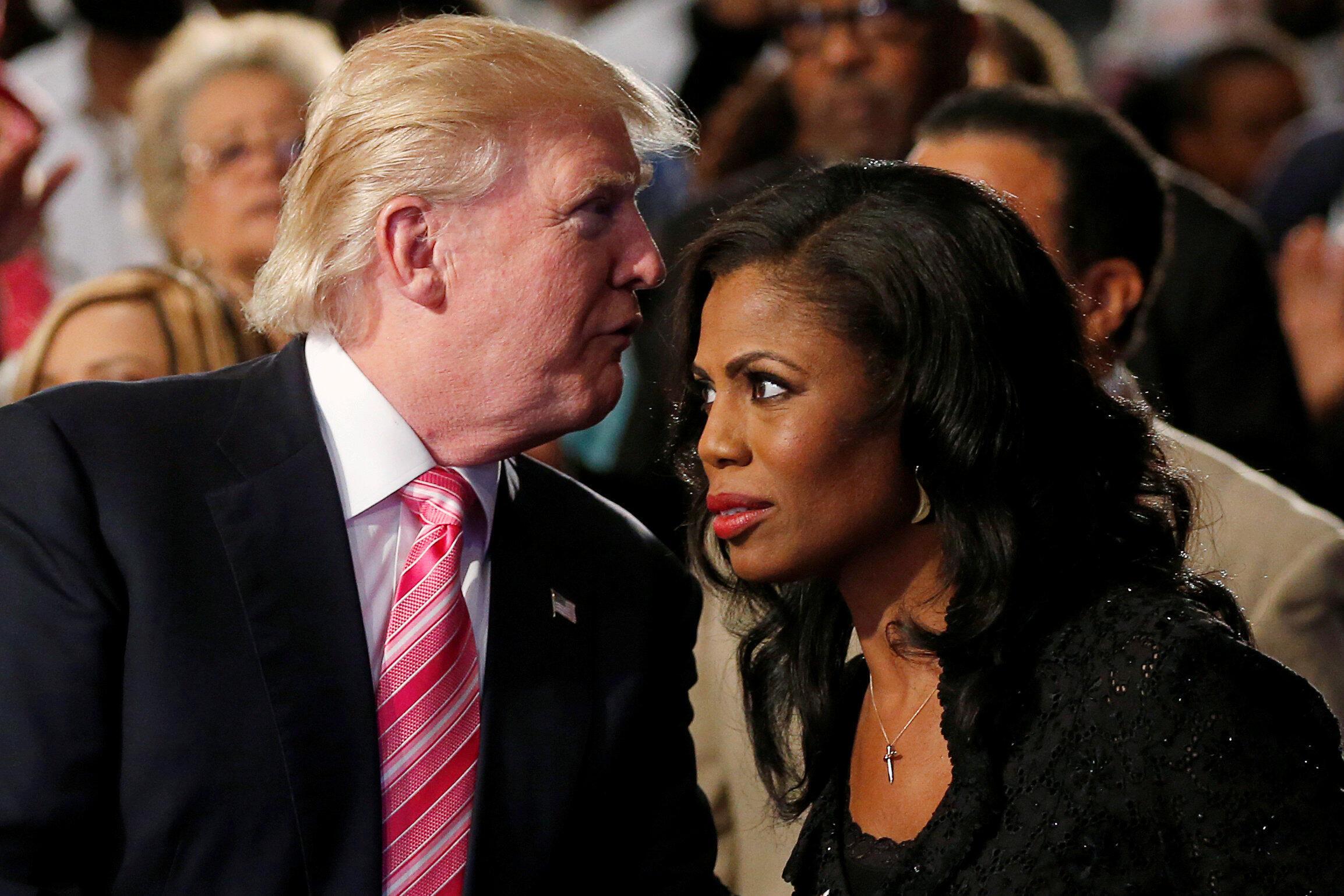 Donald Trump và Omarosa Manigault trong thời gian tranh cử tổng thống tại bang Michigan ngày 03/09/2016.