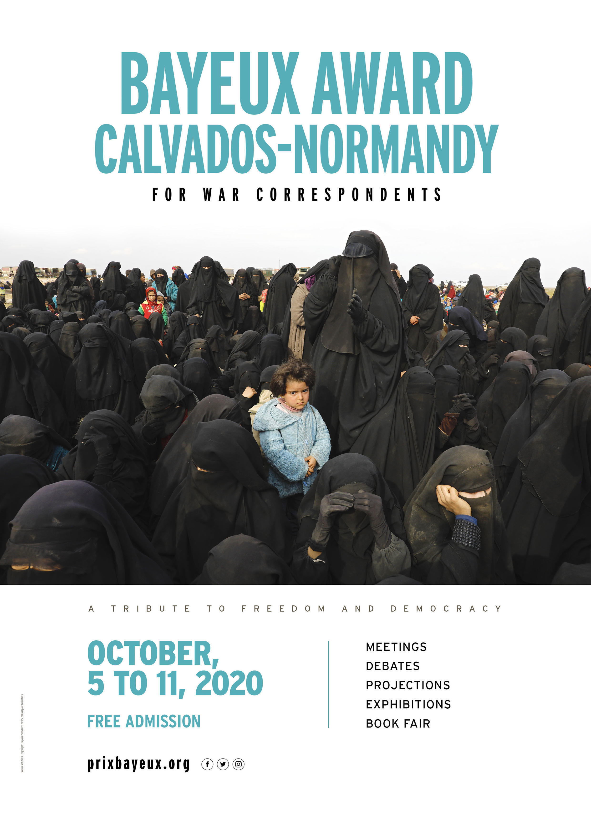Poster for the Bayeux Calvados Normandy Award for war correspondents 27th edition 2020_photo Patrick Chauvel