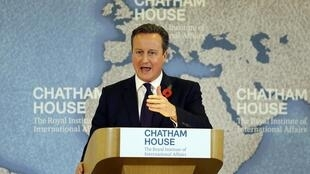 David Cameron durante su discurso sobre la reforma de la Unión Europea, este 10 de noviembre de 2015.