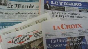 Primeiras páginas dos jornais franceses 29 de março de 2019
