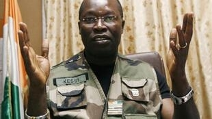 Le procureur militaire ivoirien, Ange Kessi, à Abidjan, le 30 janvier 2008.
