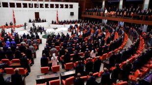 Nghị viện Thổ Nhĩ Kỳ kỷ niệm một năm phá vỡ âm mưu đảo chính 14-15/07/2016, tại Ankara, ngày 15/07/2017.